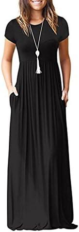 HAOMEILI Womens Sleeve Dresses Pockets