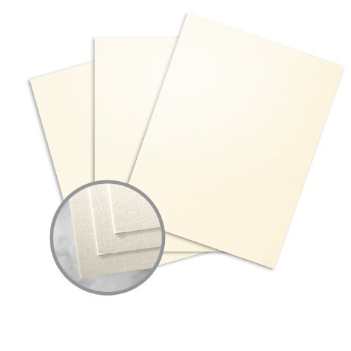 (CLASSIC Linen Natural White Pearl Card Stock - 8 1/2 x 11 in 84 lb Cover Linen C/2S 250 per Package)