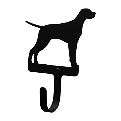 Iron Pointer Dog Decorative Wall Hook Small - Heavy Duty Metal Wall Hook, Coat Hook, Door Hooks, Key Hooks, Wall Hangers, Jewelry Hooks (Cast Iron Pointer Dog)