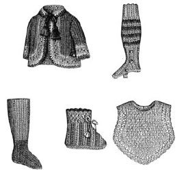 (1883 5 Knitted & Crochet Doll's Accessories)