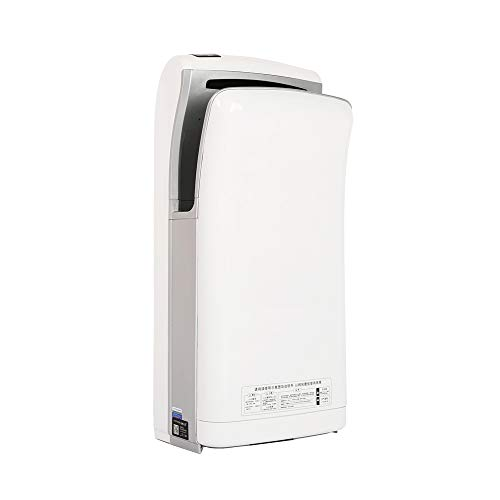 interhasa! Hand Dryer, Automatic Hand air Dryer, for Home or Commercial Bathrooms, Hotel, Restaurant, Powerful 1800W, Dry Hands in 5s, Low Noise 65 dB, ABS Material (White, Voltage 110V)