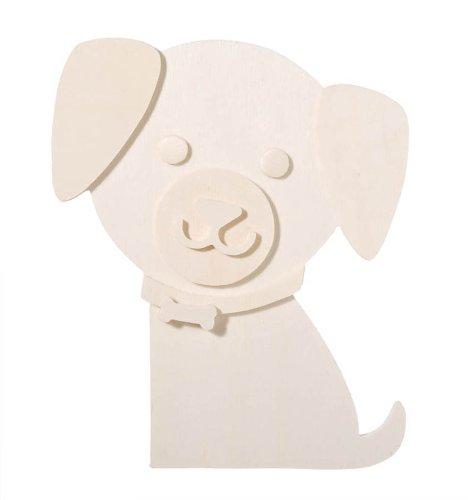 - Darice 9189-03 Chunky Layered Wood Cutout, Dog, 10mm