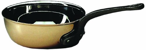 Matfer Bourgeat COPPER FLARED SAUTE PAN WITHOUT LID, 373016, 6-1/4 Inch by Matfer Bourgeat