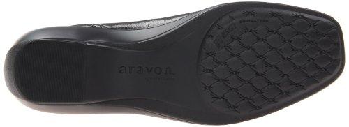 Aravon Womens Black Kiley Flat, 7 C / D Us