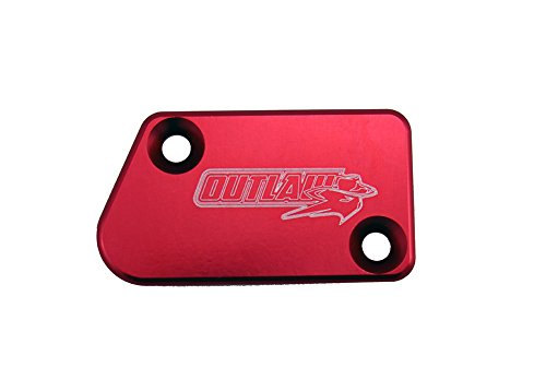 Outlaw Racing Billet Front Master Cylinder Reservoir Brake Cap Red CR CRF KX KXF RM RMZ YZ YZF WR