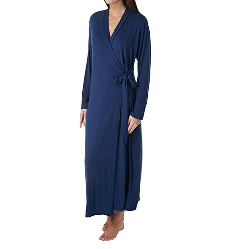 Shadowline Long Wrap Robe (61223) 1X/Navy