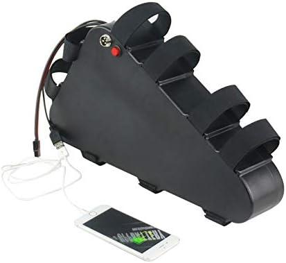 充電器と電動自転車のバッテリー、USBとBMS保護委員会トライアングルeBikeバッテリー、長距離作業リチウム電池自転車バッテリー,48V12AH