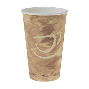 SCC316MS - Mistique Hot Paper Cups, 16oz, Brown, 50/sleeve by Solo