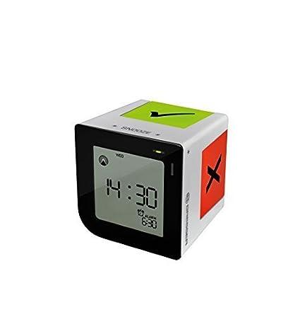 Amazon.com: Bresser Flip Me Digital Alarm Clock, Silver by ...