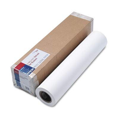 Epson - Somerset Velvet Paper Roll, 255 g, 2ft x 50 ft, White