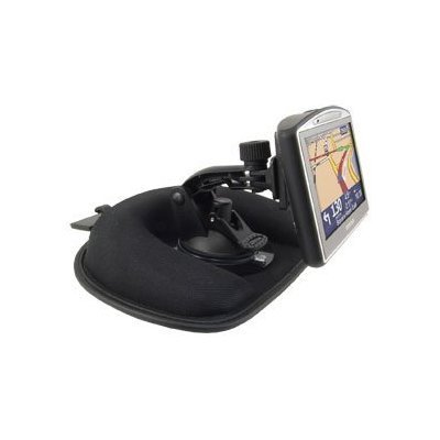 CM012+GN014-SPH+APTTEP: Deluxe Non-Skid/Friction Style Weighted Dash Mount with Safety Hook for TomTom ONE 130 130-S XL 330 330-S Edition GPS