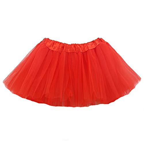 belababy Newborn Baby Red Skirt 5 Layers Tulle Dress Up Tutu ()