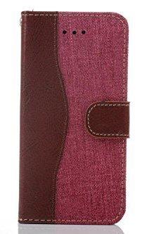 Monkey Cases® iPhone 6 4,7 Zoll - Flip Case - Cowboy Leder / Jeans Look - Rosa - Premium - original - neu - Tasche - pink
