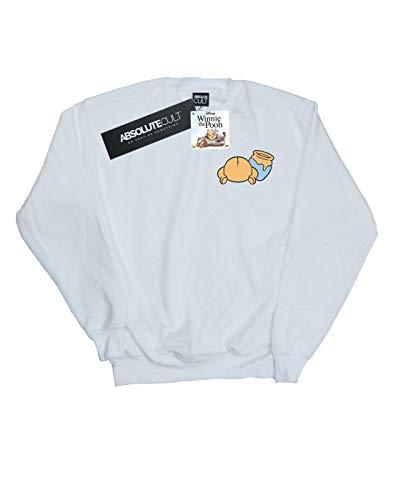 Camisa Entrenamiento large Backside Xx Blanco De Winnie Breast Mujer The Pooh Disney Print xnf07Fqqz