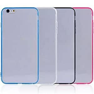 QHY 0.6mm TPU Compatible Novelty/Special Design Transparent Ultra Slim Soft Back Cover Cases for iPhone 6 (Assorted Color) , Yellow