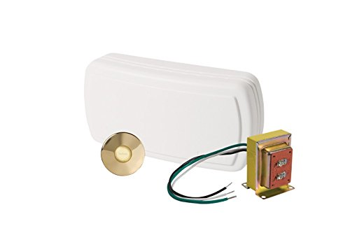 NuTone BK131LPB Chime with One Lighted Stucco Push Button and One Standard (Brass Finishing Doorbell)