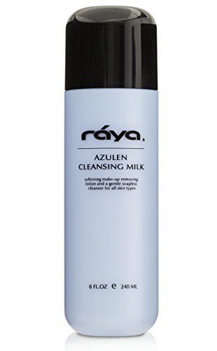 (RAYA Azulen Facial Cleansing Milk 8 oz (150)   Calming and Refining, Soap-Free Fluid Cleanser and Make-Up Removing Lotion   Made with Azulene Extract and Aloe Vera   Great for Sensitive Skin)