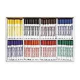 Liqui-Mark Watercolor Markers - Broad-Line 8-Color School Pack - Arts & Crafts Materials - 9710660