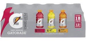 Gatorade Multipack 12oz bottles, 6-Lemon Lime, 6-Fruit Punch, 6-Orange