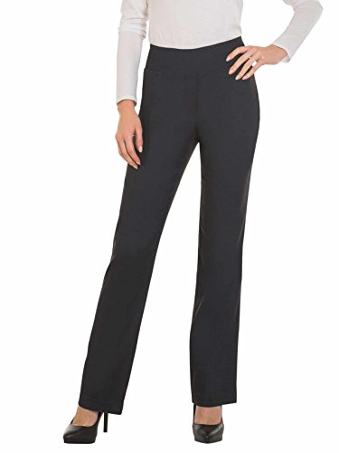 Red Hanger Bootcut Dress Pants for Women -Stretch Comfy Work Pull on Womens Pant Indigo-L - Stretch Knit Dress Denim