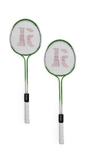 ZoraX Polo Double Shaft Multicolor Badminton Racket Pack of 1 Pair