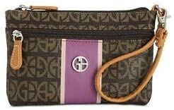Giani Bernini Block Signature Stripe Wristlet Handbag, Brown