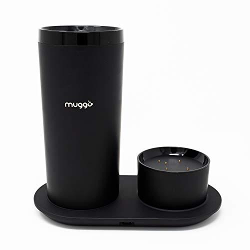 Muggo 12 oz Temperature Control Mug with 3 hour Battery Life, Tea, Coffee, & Hot Beverage Warmer, Heated Travel Mug with…