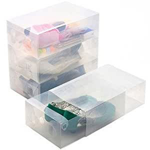 KLOUD City Pack of 3 clear drawer style thicken shoe storage box case holder container