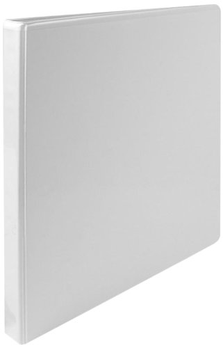 Sparco Standard View Binder, 1/2-Inch Capacity, 8-1/2 x 11 Inches, White -