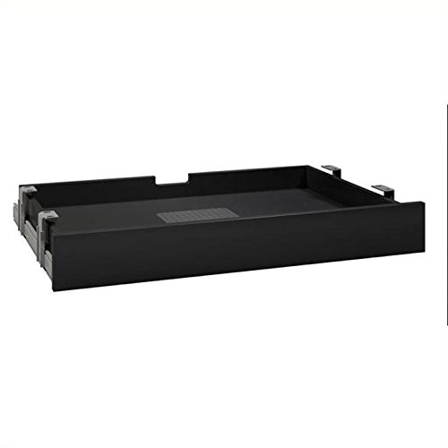 Bush Business Furniture Multi-purpose Drawer with Drop Front in Black Finish