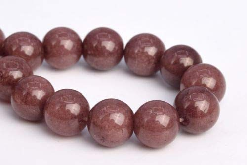 10mm Natural Chocolate Jade Grade Round Gemstone Loose Beads 7.5'' Crafting Key Chain Bracelet Necklace Jewelry Accessories Pendants