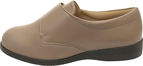 Cosyfeet Jodie Shoes - Extra Roomy (Eeeee+ Width Fitting) Taupe Elastane/Leather enuRivLeR