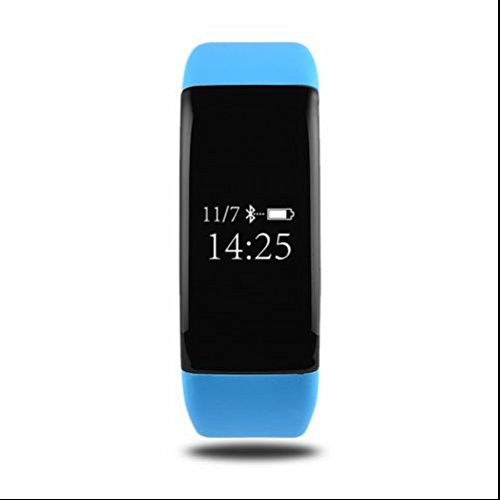 Bracelet Connecté Sport Intelligent,Fitness Tracker d'activités,Bluetooth Podomètre Moniteur Sommeil,Distance, Calories,message Call Remind,Réveil pour Android IOS Smartphone