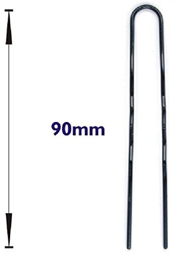 Haarpfeil Freda gewellt 30 Stück schwarz 90 mm(in diversen Größen) (groß)