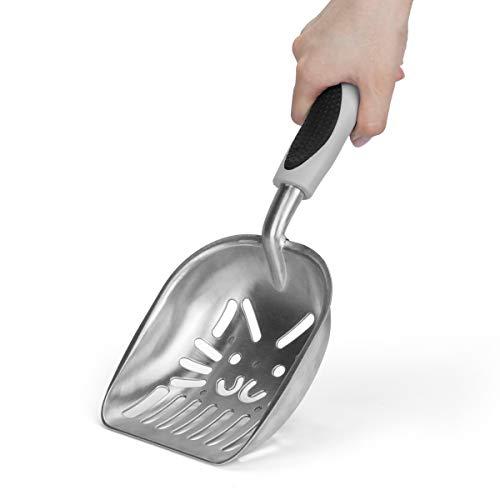 Ryhpez Cat Litter Scoop, Eloiro Cat Face Sifter with Deep Shovel – Lightweight Handle – Strong and Durable Aluminum…