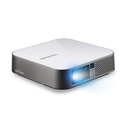 ViewSonic M2e Full HD 1080p Smart Draagbare LED Projector voor Home Entertainment met WiFi, Bluetooth en Geïntegreerde…