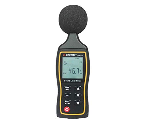 HYLH Sound Level Meter, 30-130dB(A) 1.5 dB Accuracy LCD Noise Meter Tester Noise Volume Measuring Instrument Decibel Monitoring Tester