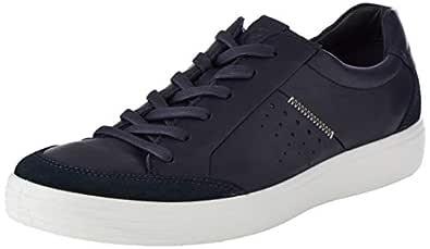 ECCO Men's Soft 7 Sneaker, Navy Suede/Night Sky, 39 M EU (5-5.5 US)