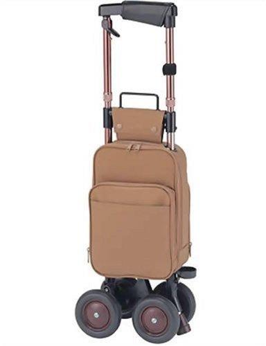 象印ベビー キャリーステッキライト168 (茶) 本体重量:2.1kg 袋容量:9L キャリーシリーズ ショッピングカー B0012CO3TY 茶 茶
