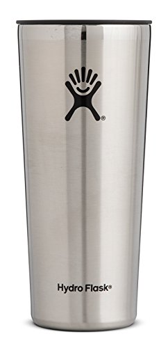 Hydro Flask 22 oz Double Wall Vacuum Insulated Stainless Steel Travel Tumbler Cup with BPA Free Press-In Lid, Stainless