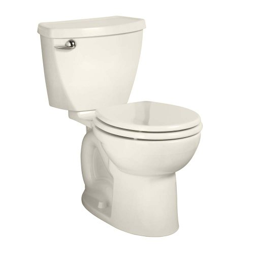 - American Standard 270BA001.222 Cadet 3 Right Height Round Front Two-Piece Toilet with 12-Inch Rough-In, Linen