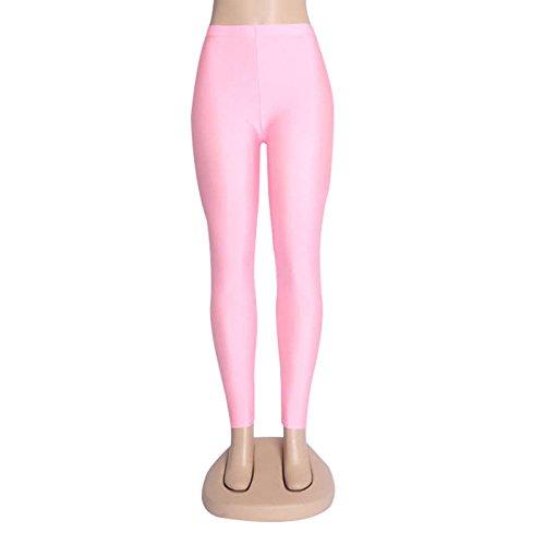 Xuanytp Yogahosen Solid Candy Neon Plus Größe Frauen Leggings Hohe Elastizität Hosen Fitness Kleidung Hosen