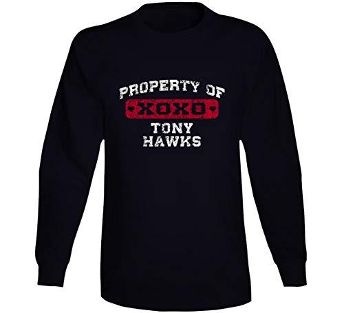 Property of Tony Hawks Comedian Comedy Worn Look Fan Long Sleeve T Shirt M Black