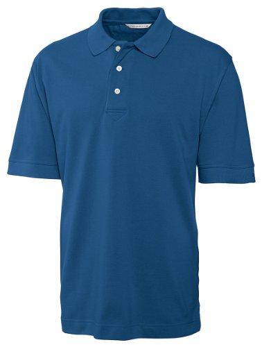 [Cutter & Buck Men's Short Sleeve Tournament Pique Polo, Marlin, XXX-Large] (Cutter Buck Logo Shirts)