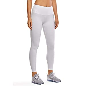 CRZ YOGA Femme Poches Pantalon Taille Haute Legging de Yoga Femme pour Jogging Sport ou Casual-71cm