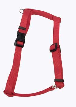 Coastal Pet Products DCP6643RED Nylon Standard Adjustable Dog Harness, Medium, Red