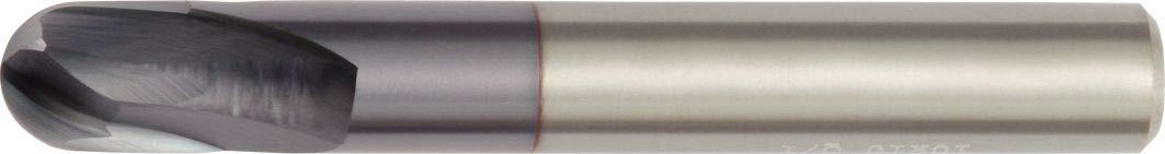 Carbide Straight Shank 12 mm Cutting Dia Ball Nose RH Cut TiAlN WIDIA Hanita 715112005RT Vision Plus 7151 HP Hard Material End Mill 2FL