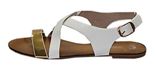 STEKOST - Zapatos con correa de tobillo Mujer Weiß