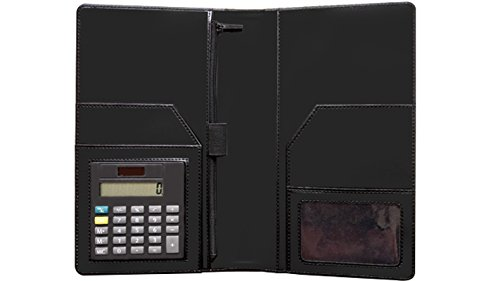 Multiple Pockets Server Book Organizer Wallet – Multifunctional Server Wallet with Built-in Calculator – Elegant Design – Credit Card Holder and Zipper Slot – Ideal for Waiter, College, School by UNIFOX.INC