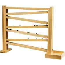 "Classic Wooden Marble Run / Roller Track, 18"" High with Free Marbles"